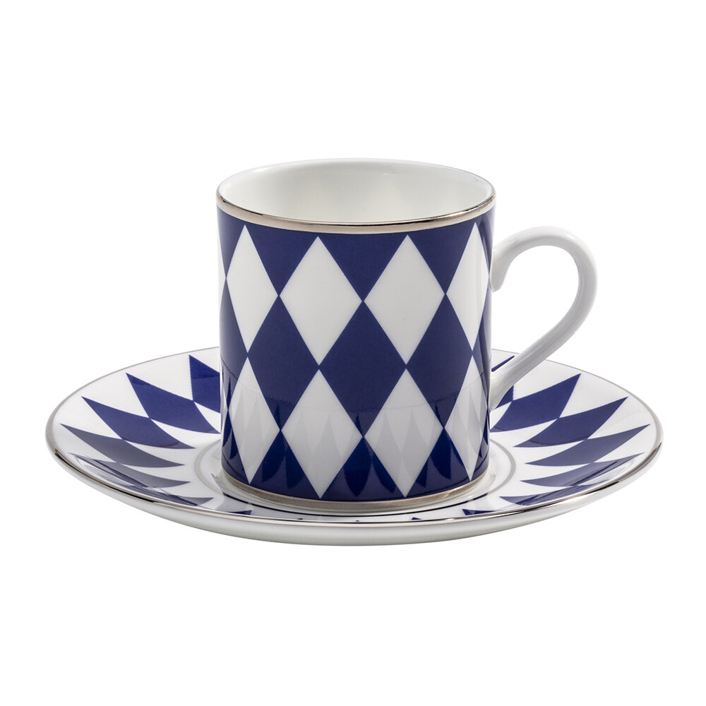 Halcyon Days - Parterre Coffee Cup & Saucer