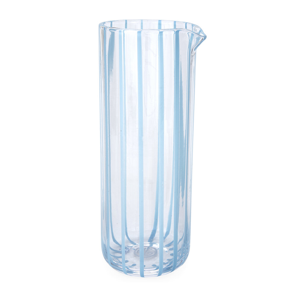 Jonathan Adler - Cabana Glass Pitcher - Blue