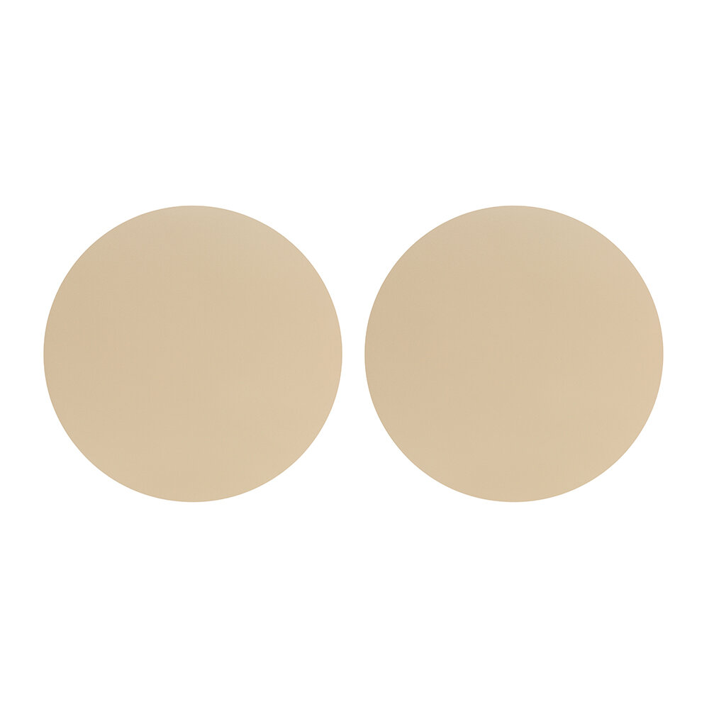 Essentials - Double Sided Leather Placemat - Set of 2 - Sand