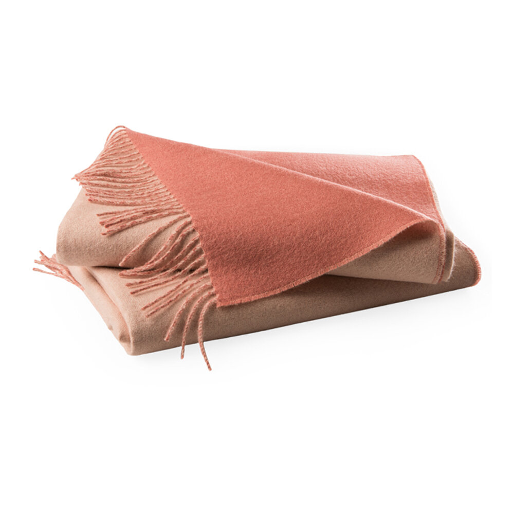 Simple Things - Baby Alpaca Throw - Powder & Vintage Pink