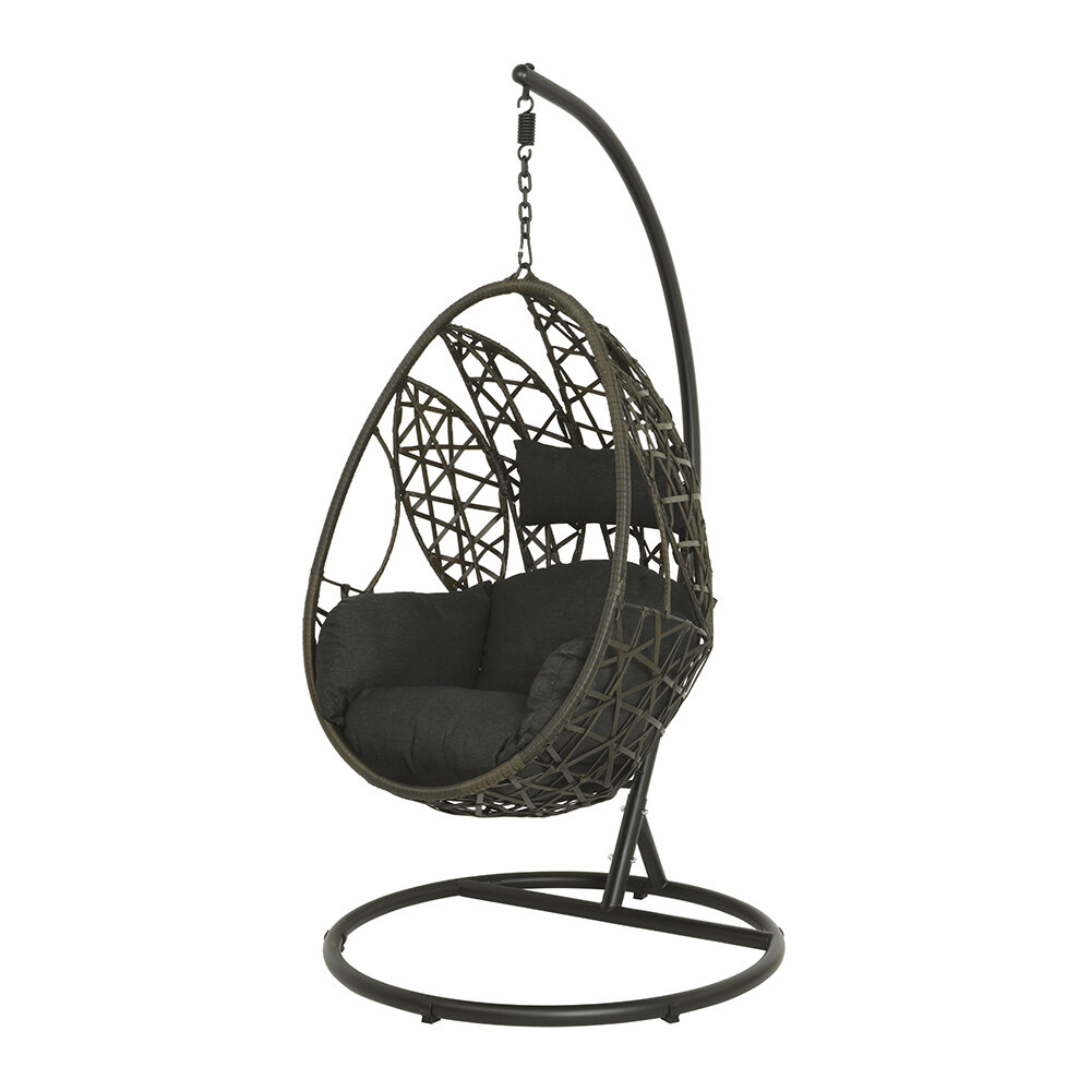 AMARA Outdoors - Outdoor Leaf Design Hanging Chair - Brown