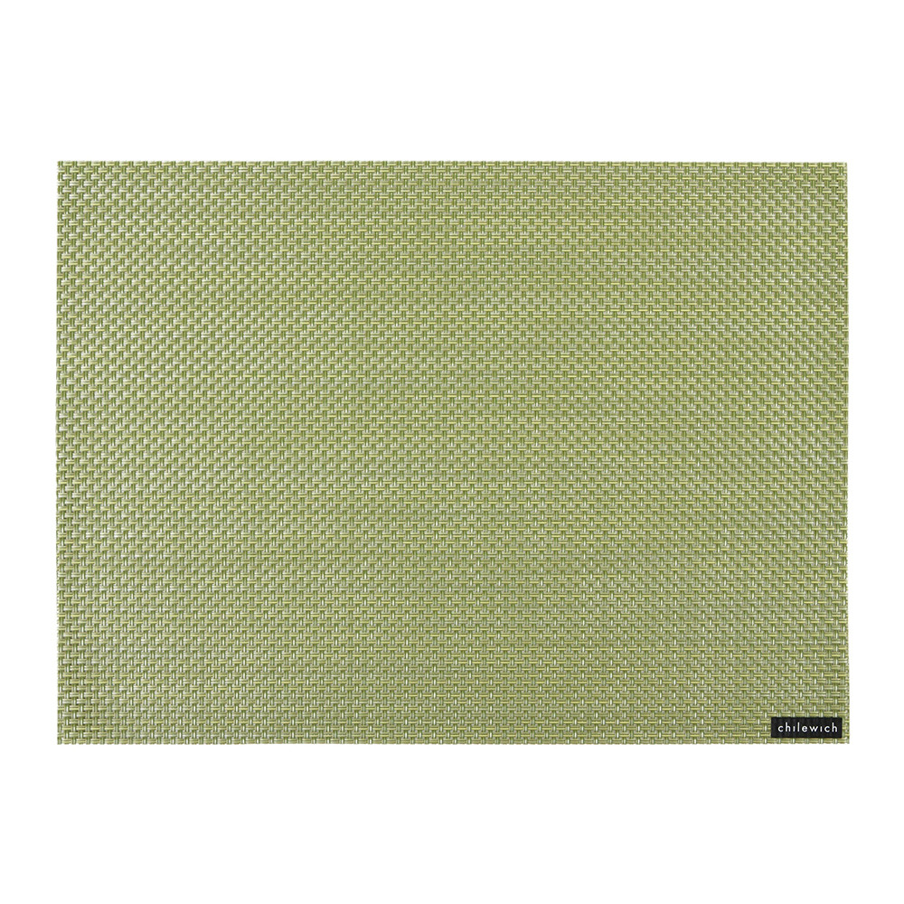 Chilewich - Basketweave Rectangle Placemat - Grass Green