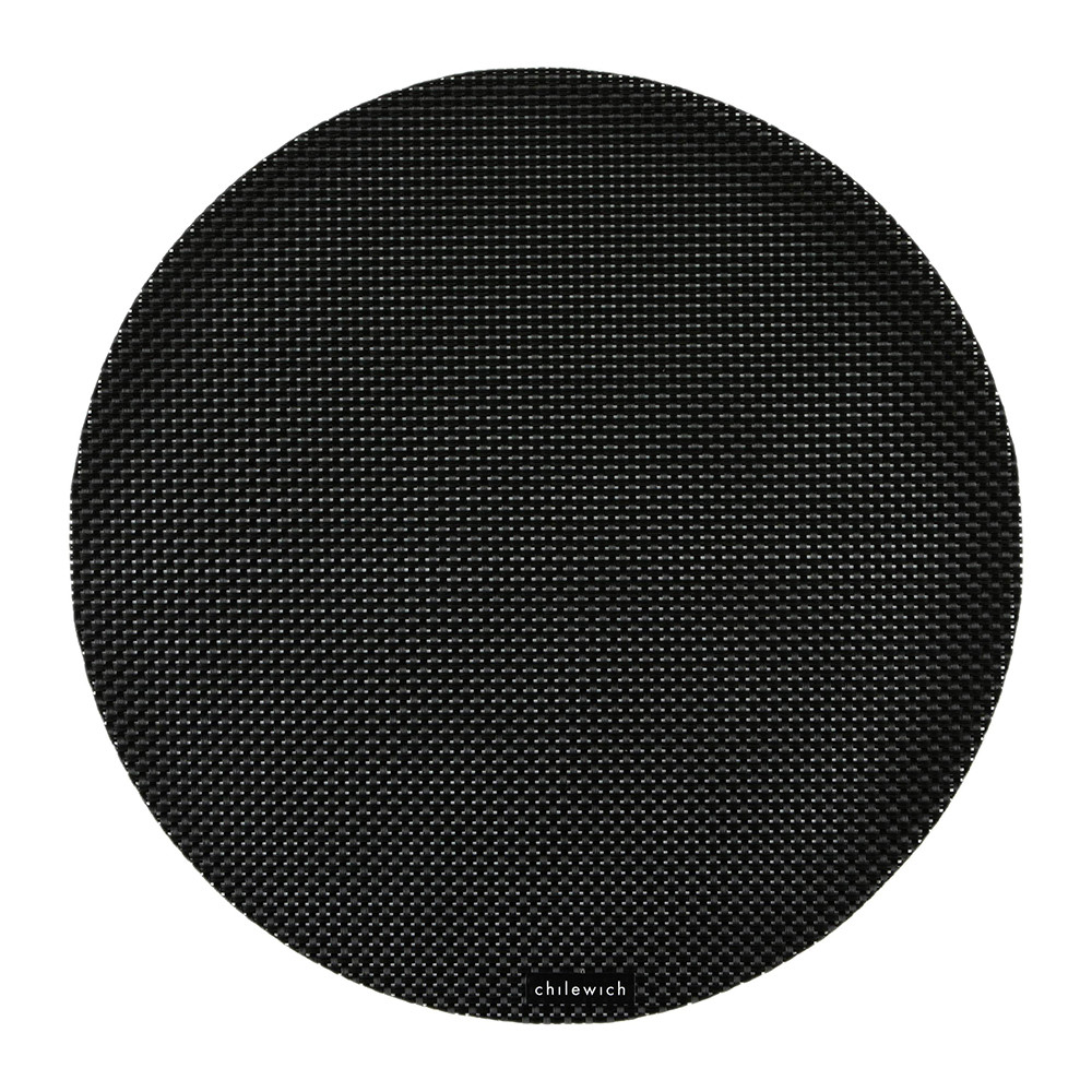 Chilewich - Basketweave Round Placemat - Black