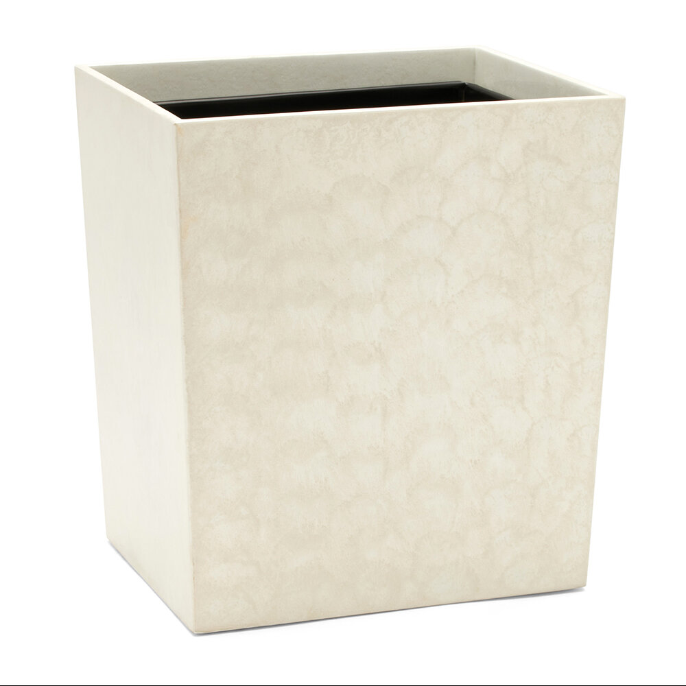 Pigeon and Poodle - Charlotte Resin Waste Basket - White