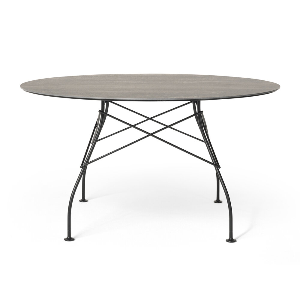 Kartell - Glossy Outdoor Round Dining Table - Aged Bronze/Black