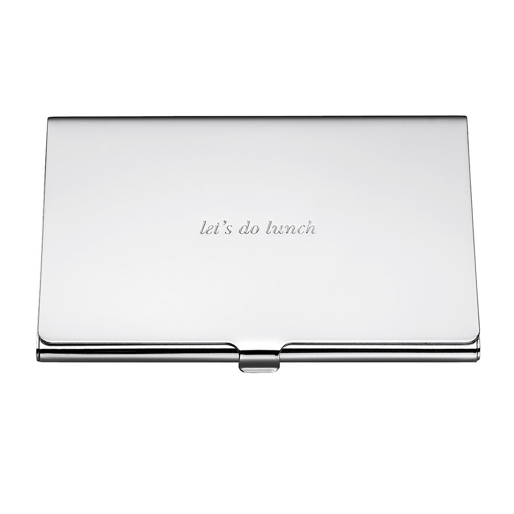kate spade new york silver street lets do lunch business card