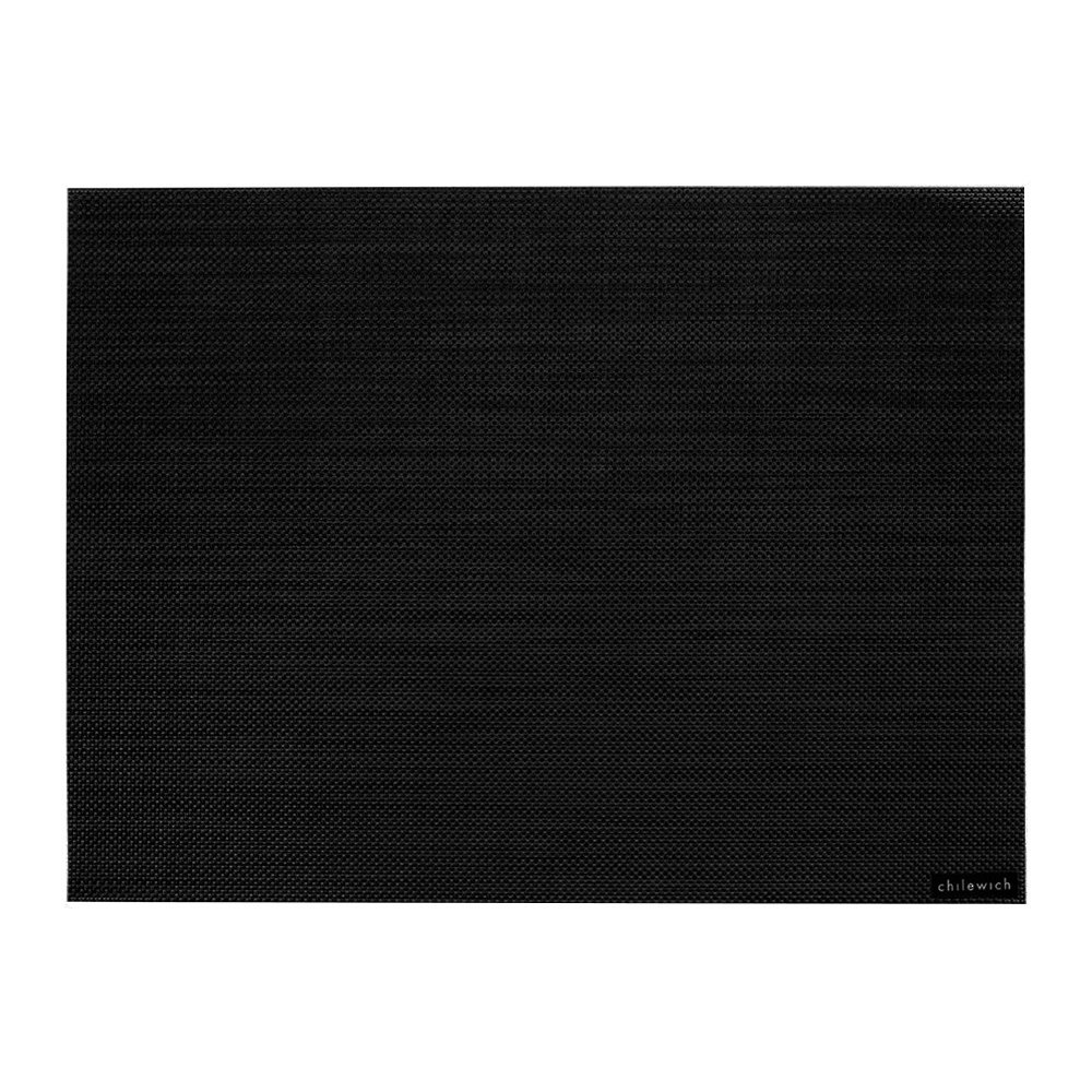 Chilewich - Mini Basketweave Rectangle Placemat - Black