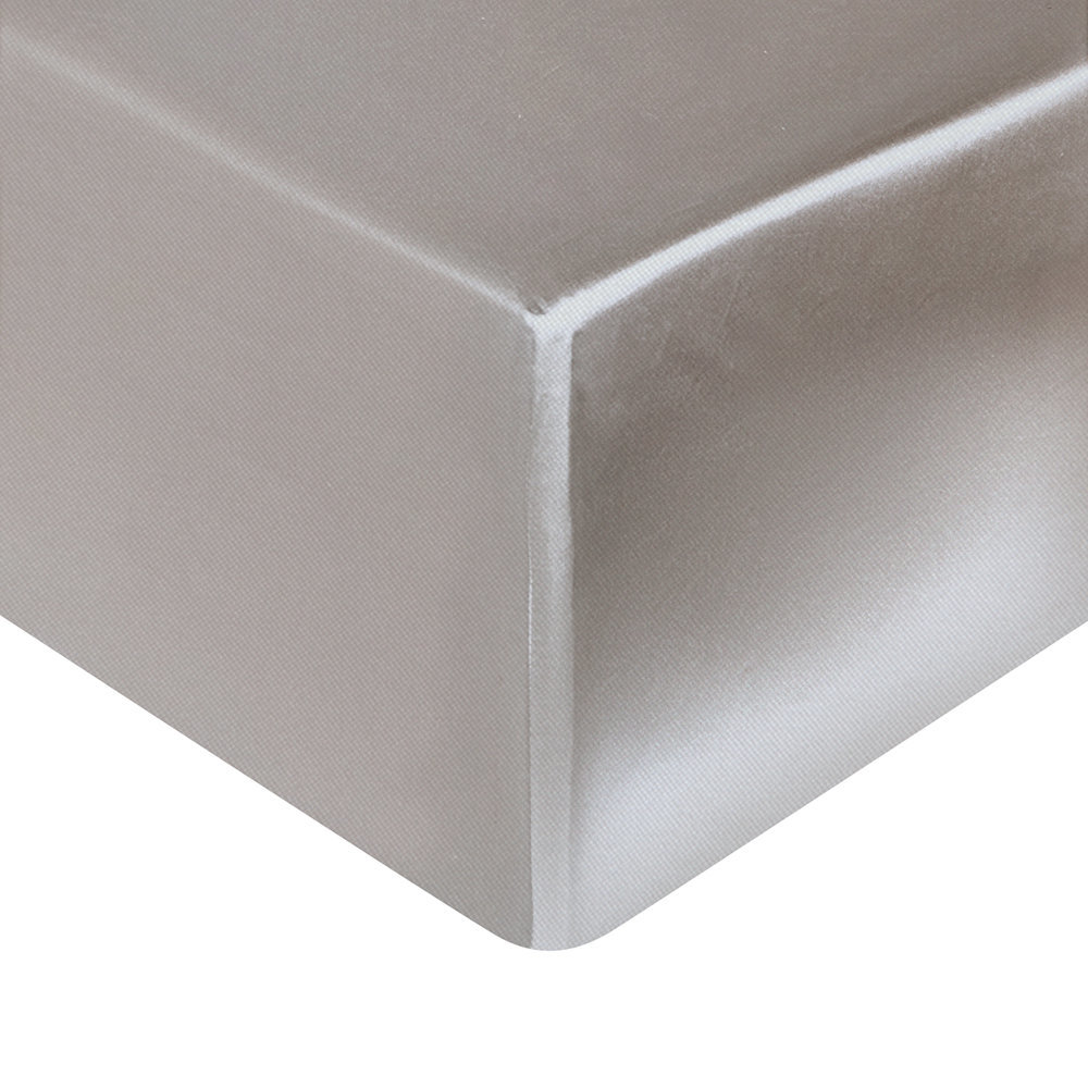 Gingerlily - Silk Fitted Sheet - Silver Grey - Super King (UK size)