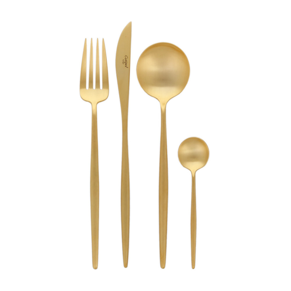 Cutipol - Moon Matt Gold Cutlery Set - 24 Piece