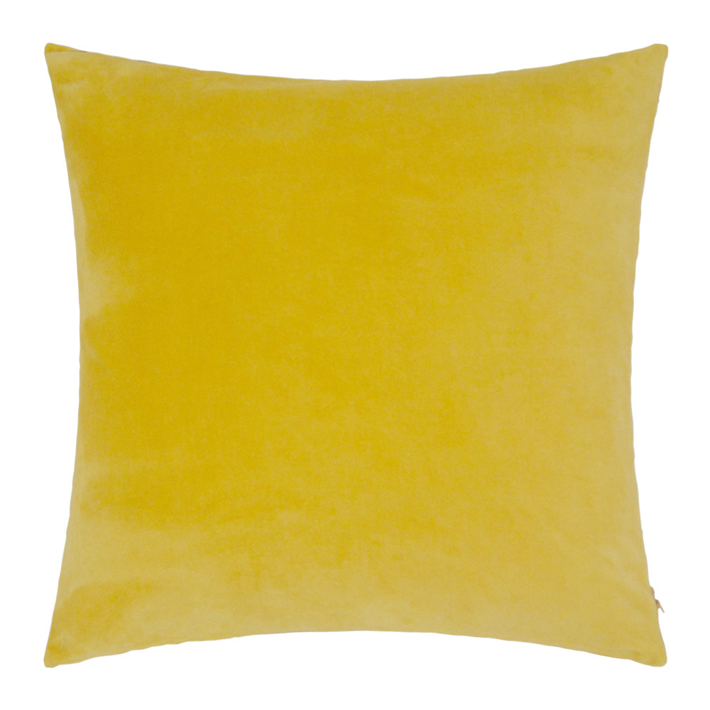 Niki Jones - Chartreuse Velvet Linen Cushion - 50x50cm