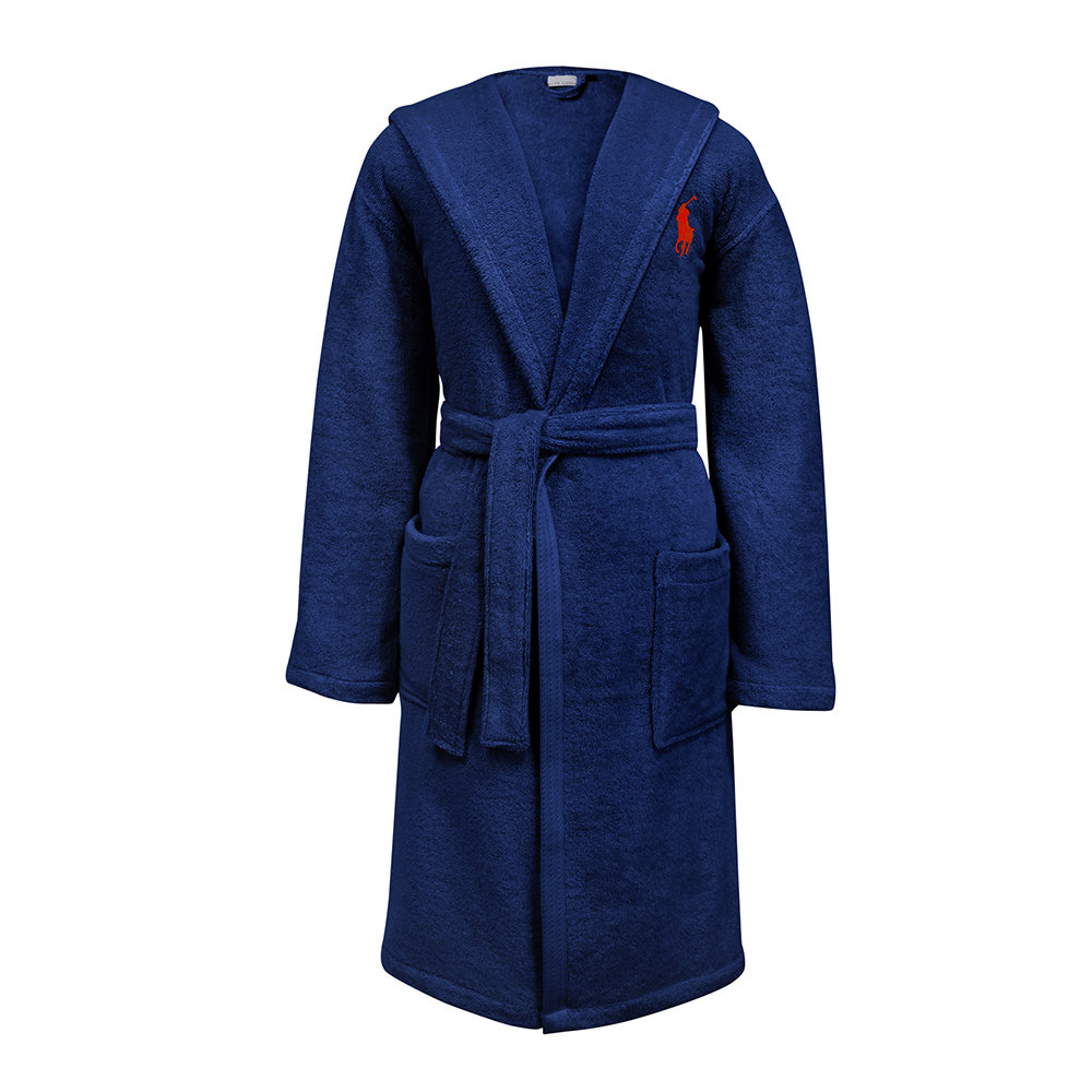 Buy Ralph Lauren Home Player Bathrobe - Navy   Amara 77a24633d890