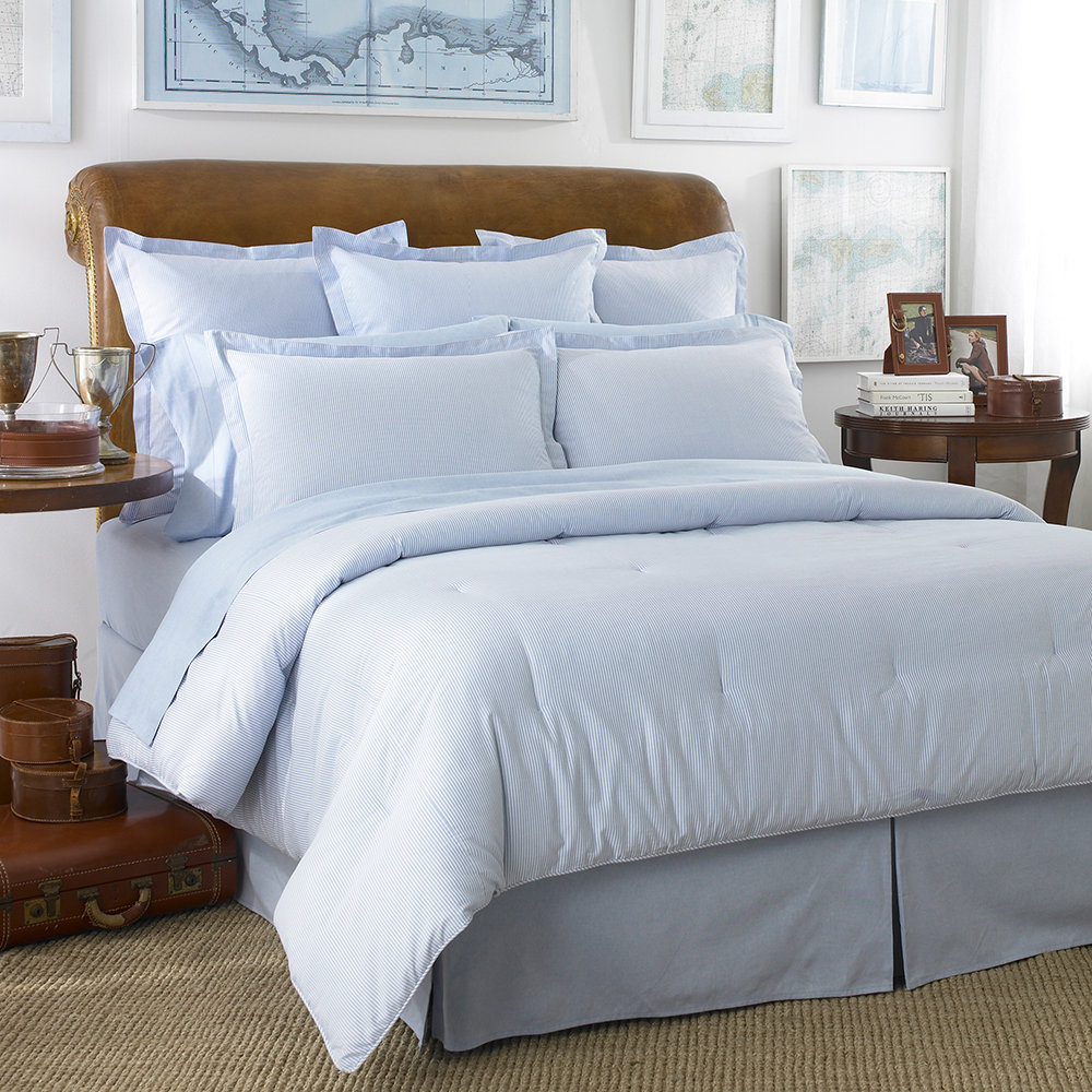 Buy Ralph Lauren Home Oxford Duvet Cover   Blue | Amara