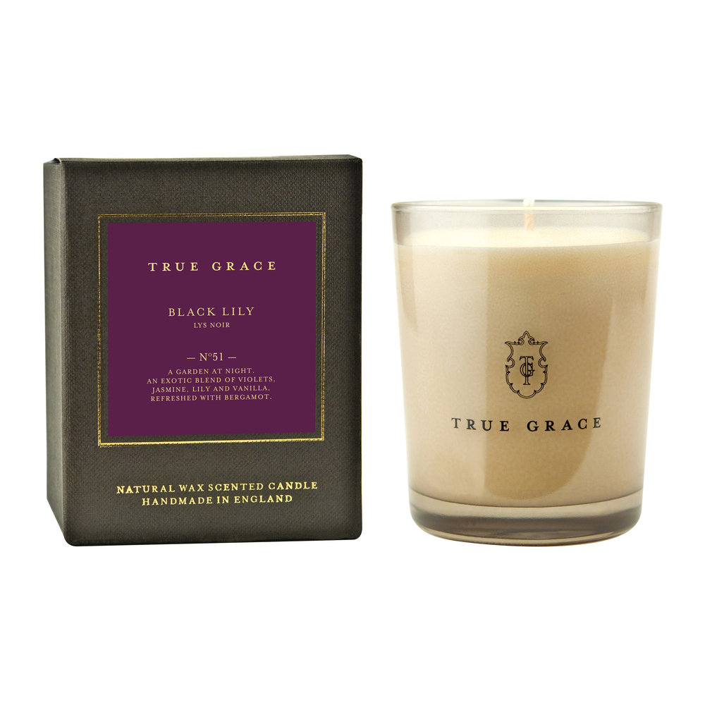 True Grace - Manor Classic Candle - Black Lily - 190g