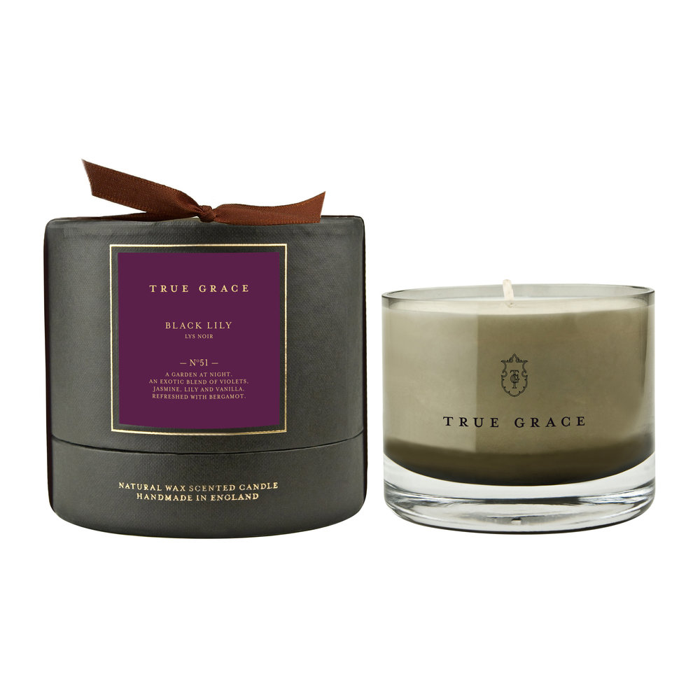 True Grace - Manor Candle - 225g - Black Lily