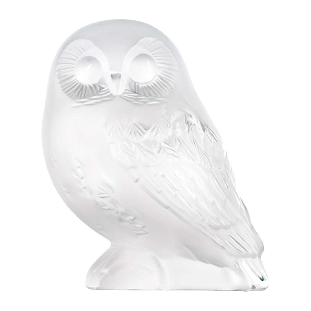 Lalique - Clear Shivers Owl Figure