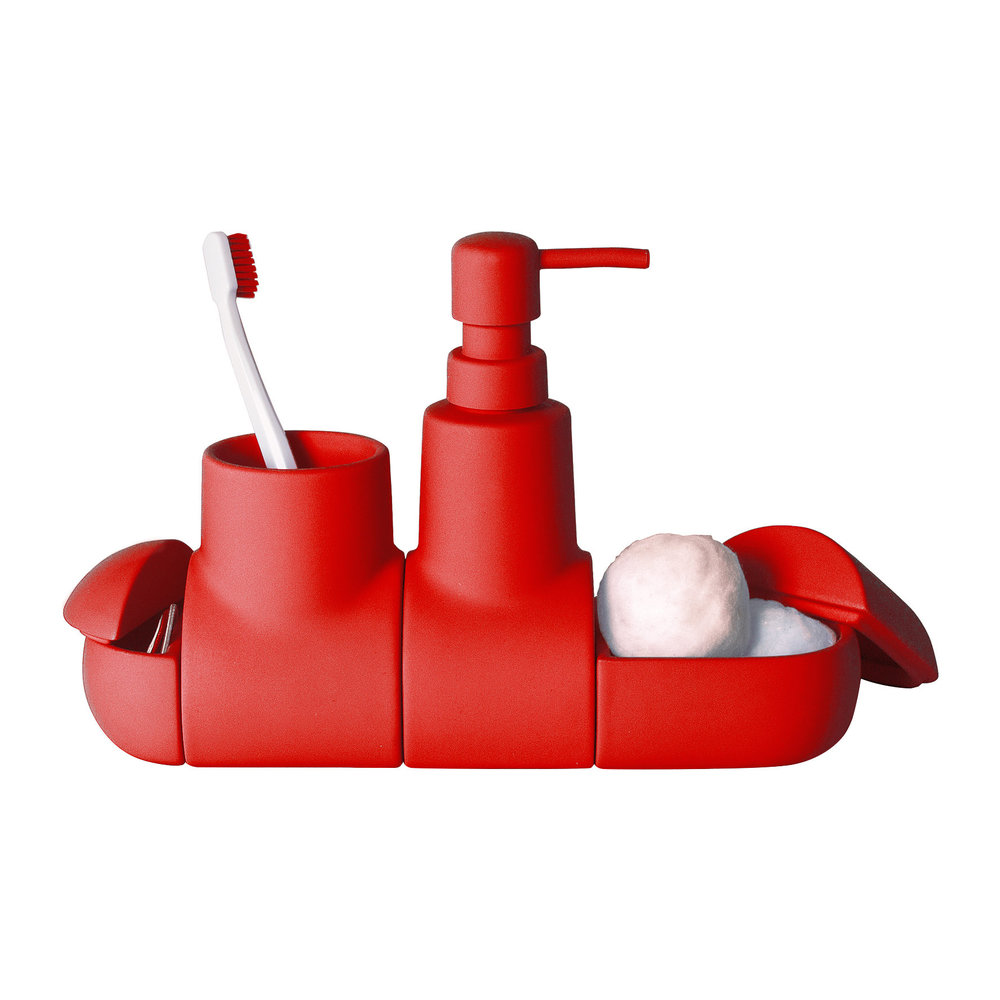 Buy seletti submarino bathroom accessory red amara for Bathroom accessories red