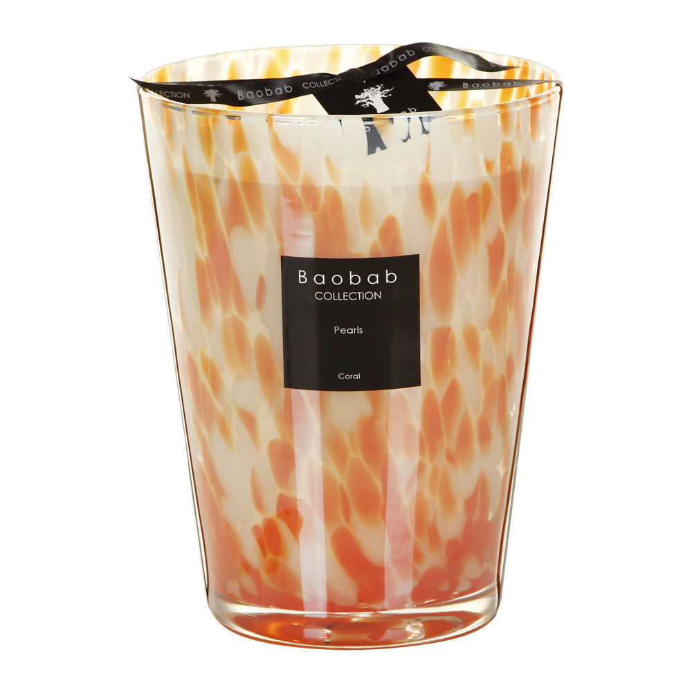 Baobab Collection - Pearls Scented Candle - Coral Pearls - 24cm