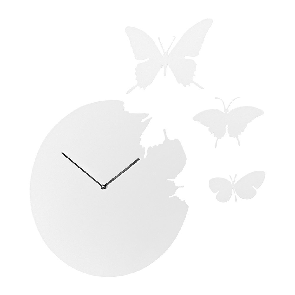 Buy diamantini domeniconi large butterfly wall clock amara home accessories clocks wall clocks previous amipublicfo Images