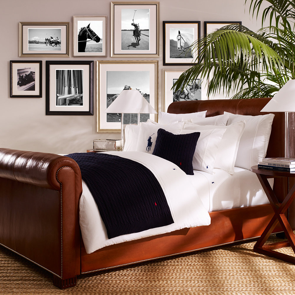 buy ralph lauren home polo player duvet cover white amara. Black Bedroom Furniture Sets. Home Design Ideas