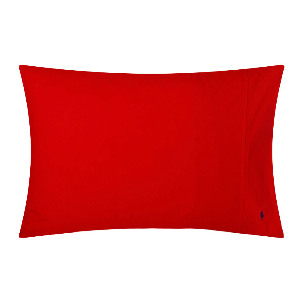 Ralph Lauren Home - Polo Player Pillowcases - Red Rose - Set of 2 - 50x75cm