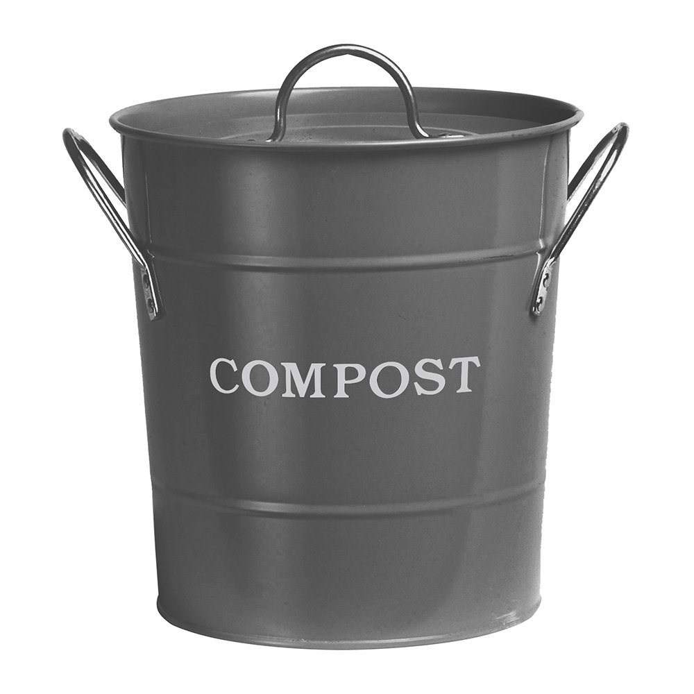 Garden Trading - Compost Bucket - Charcoal - 3.5L