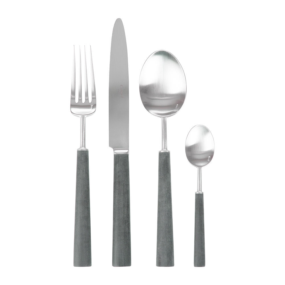 Cutipol  Ebony Flatware Set  24 Piece