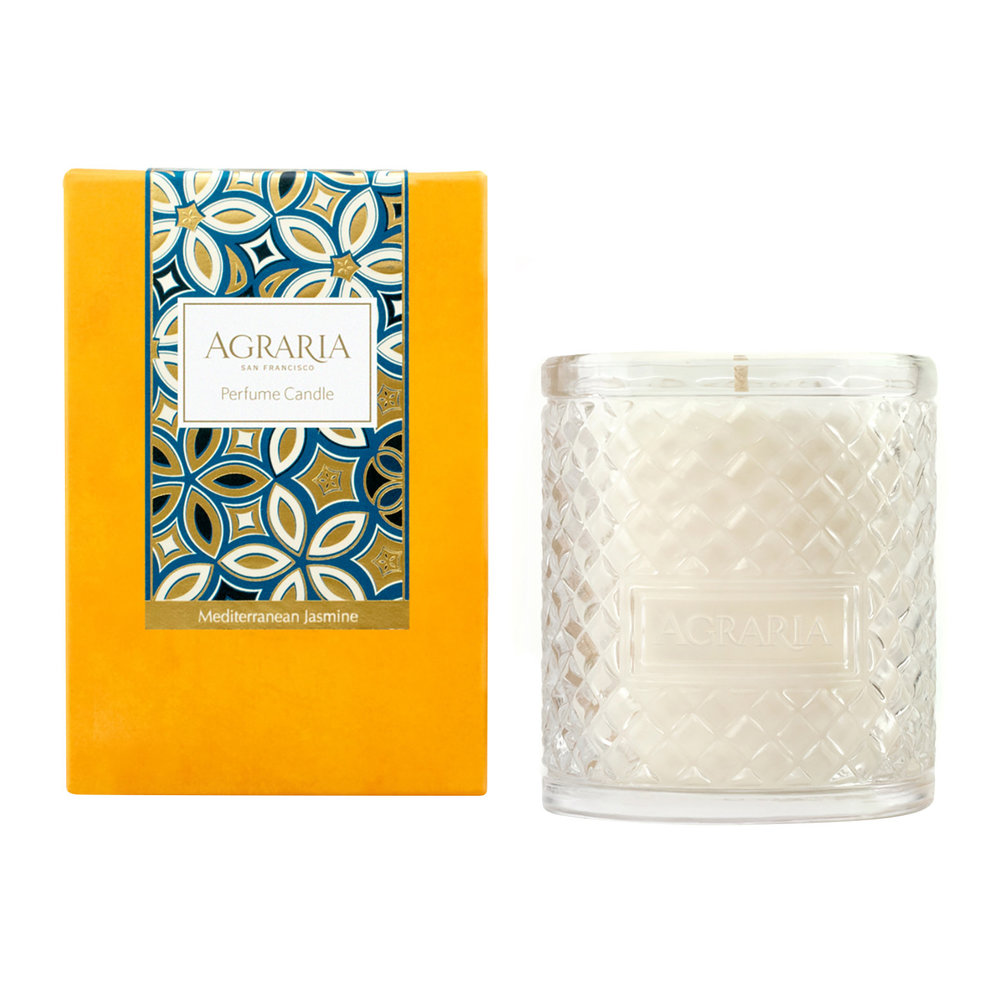 Agraria - Woven Crystal Candle - Mediterranean Jasmine - Mediterranean Jasmine