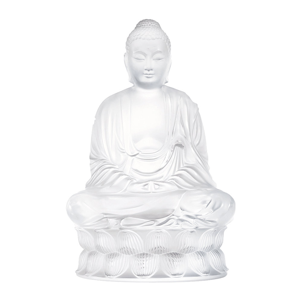 Lalique - Buddha Figure - Clear