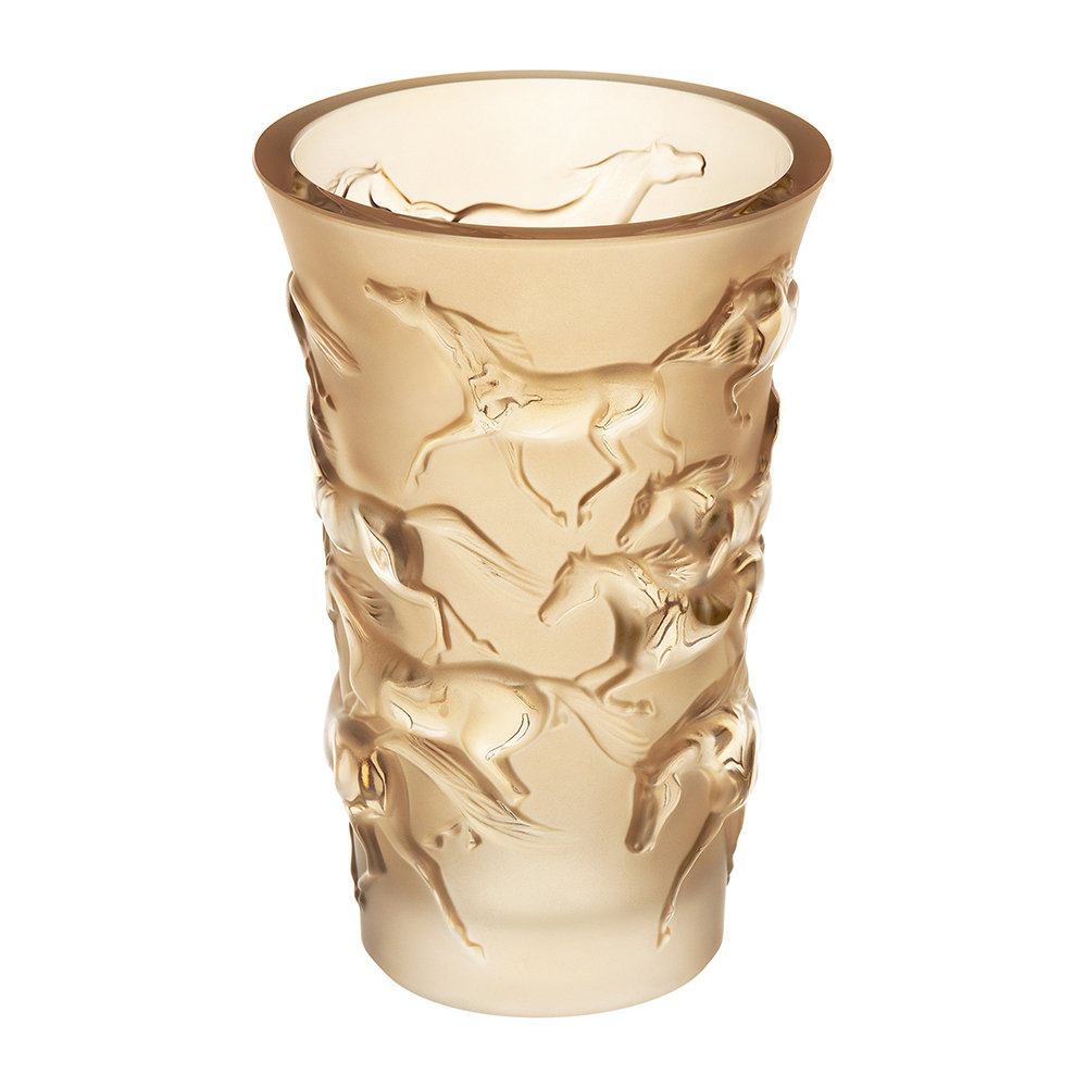 Buy lalique mustang vase gold lustre amara for Lalique vase