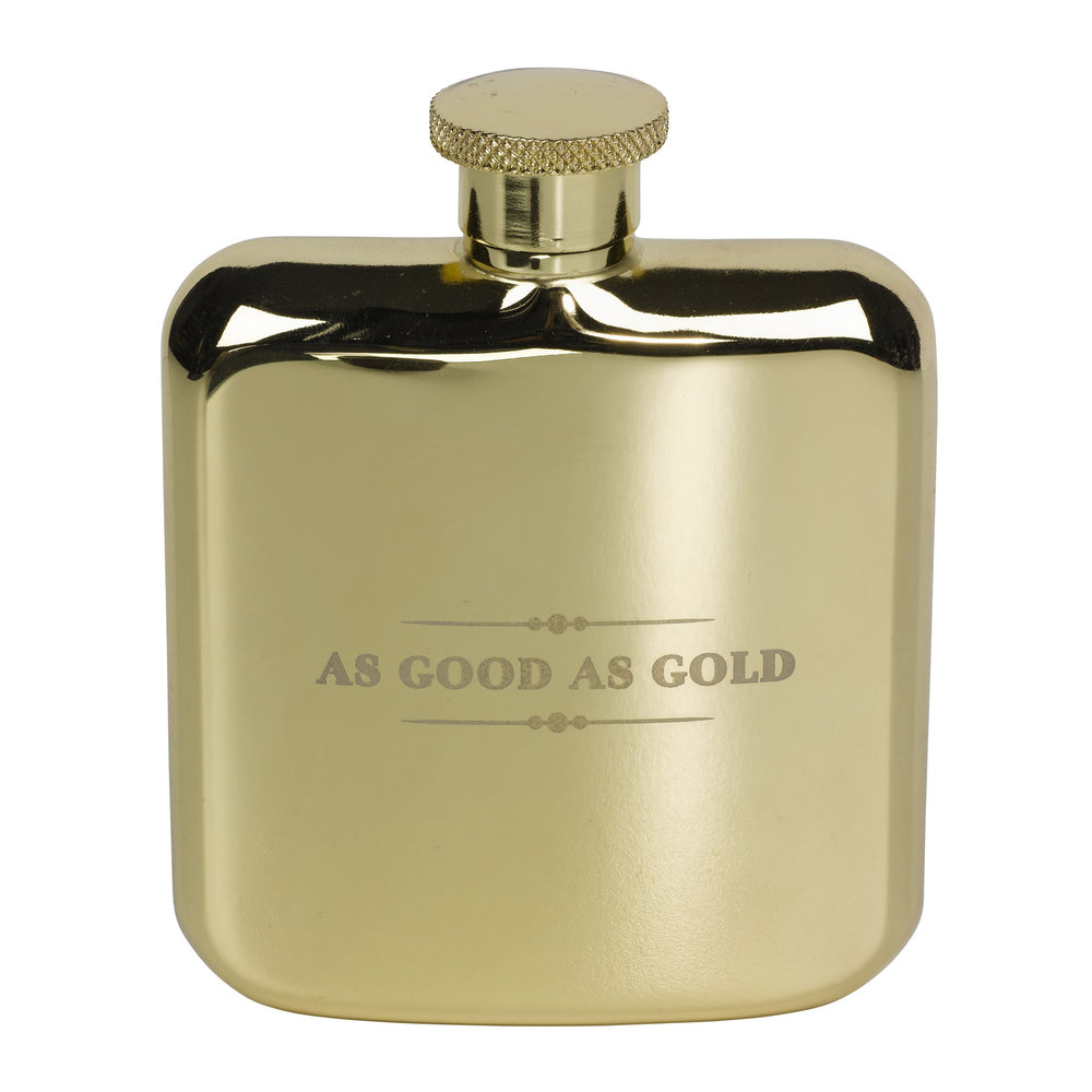 Ted Baker - Outdoor Engraved Metal Hip Flask