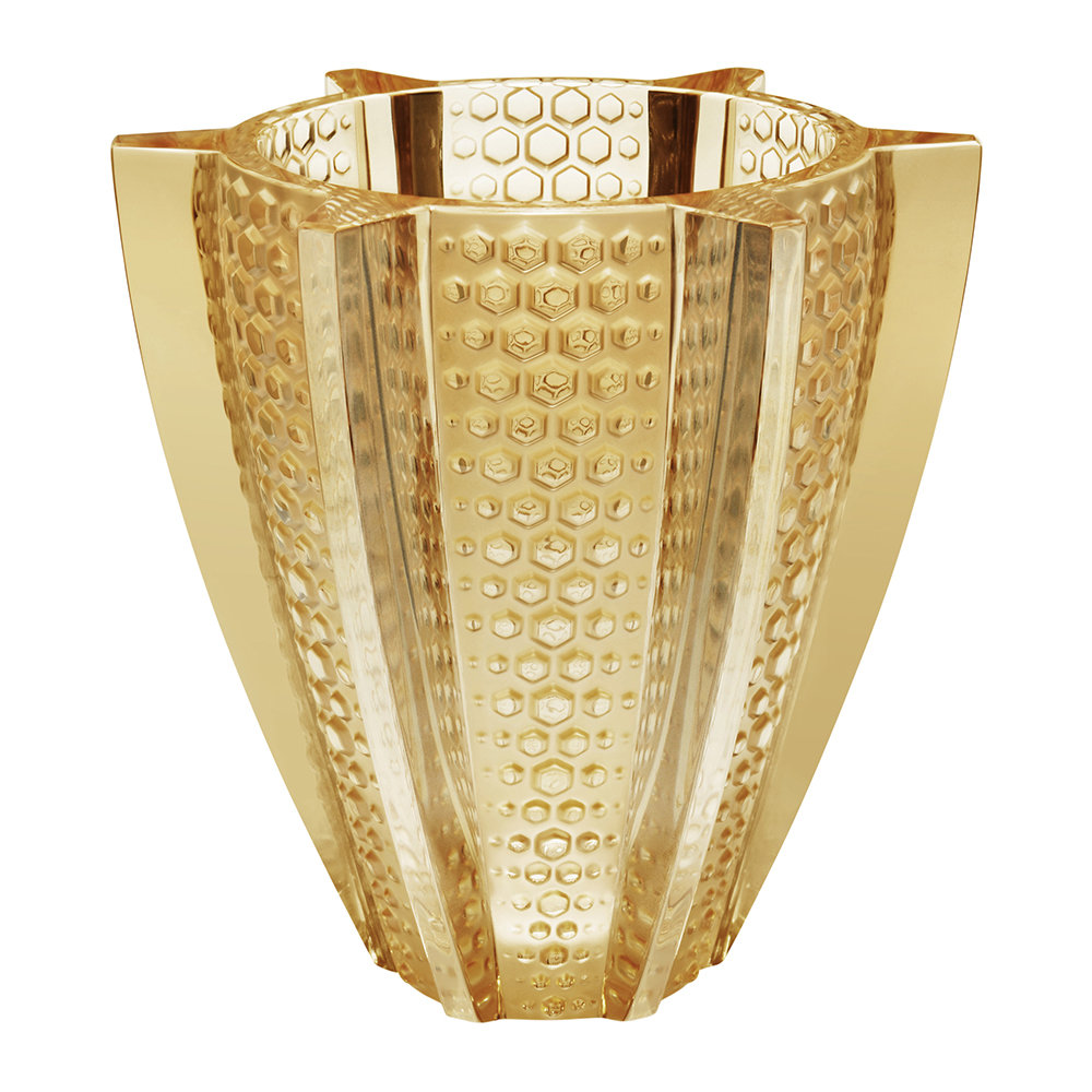 Lalique - Rayons Vase - Gold Luster