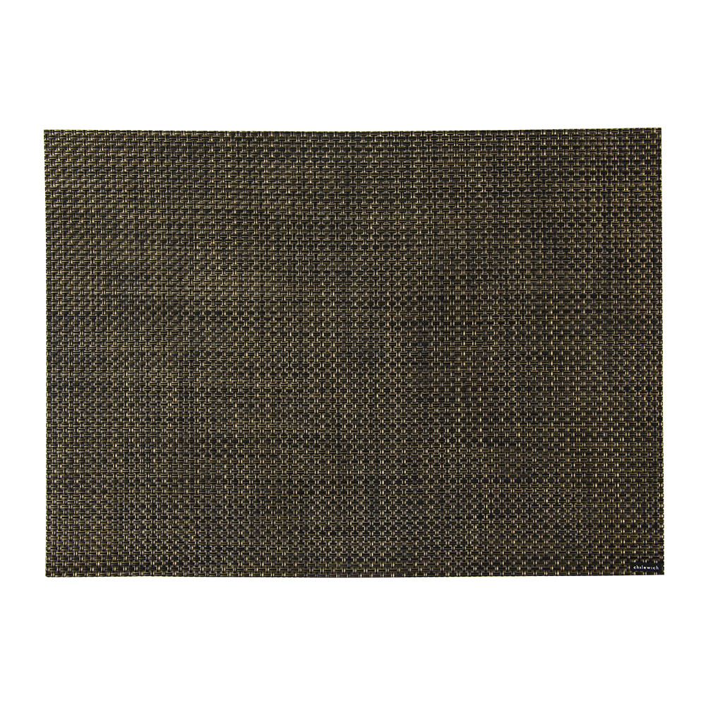 Buy Chilewich Basketweave Rectangle Placemat Black Gold