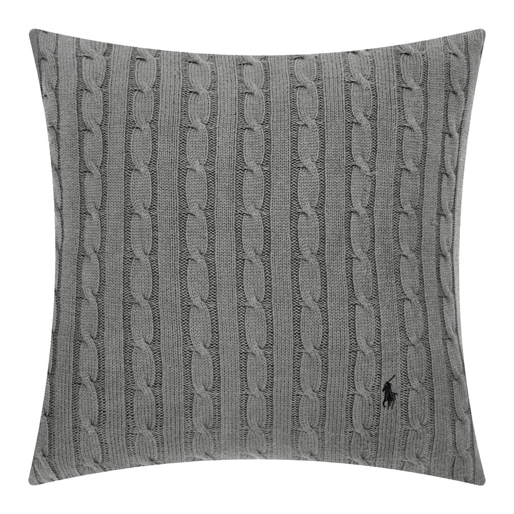 Buy Ralph Lauren Home Cable Cushion Cover - 45x45cm - Charcoal  099b59709