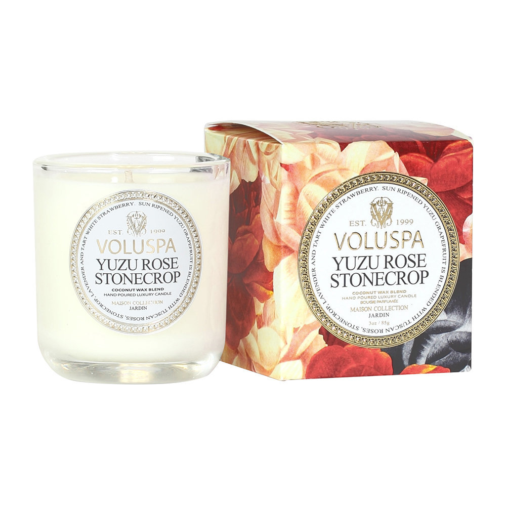 Buy voluspa maison jardin candle yuzu rose stonecrop for Jardin 85