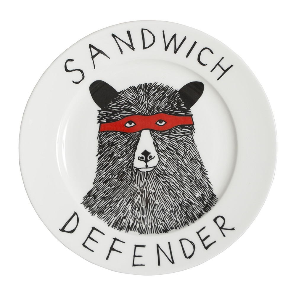 Jimbobart - 'Sandwich Defender' Side Plate