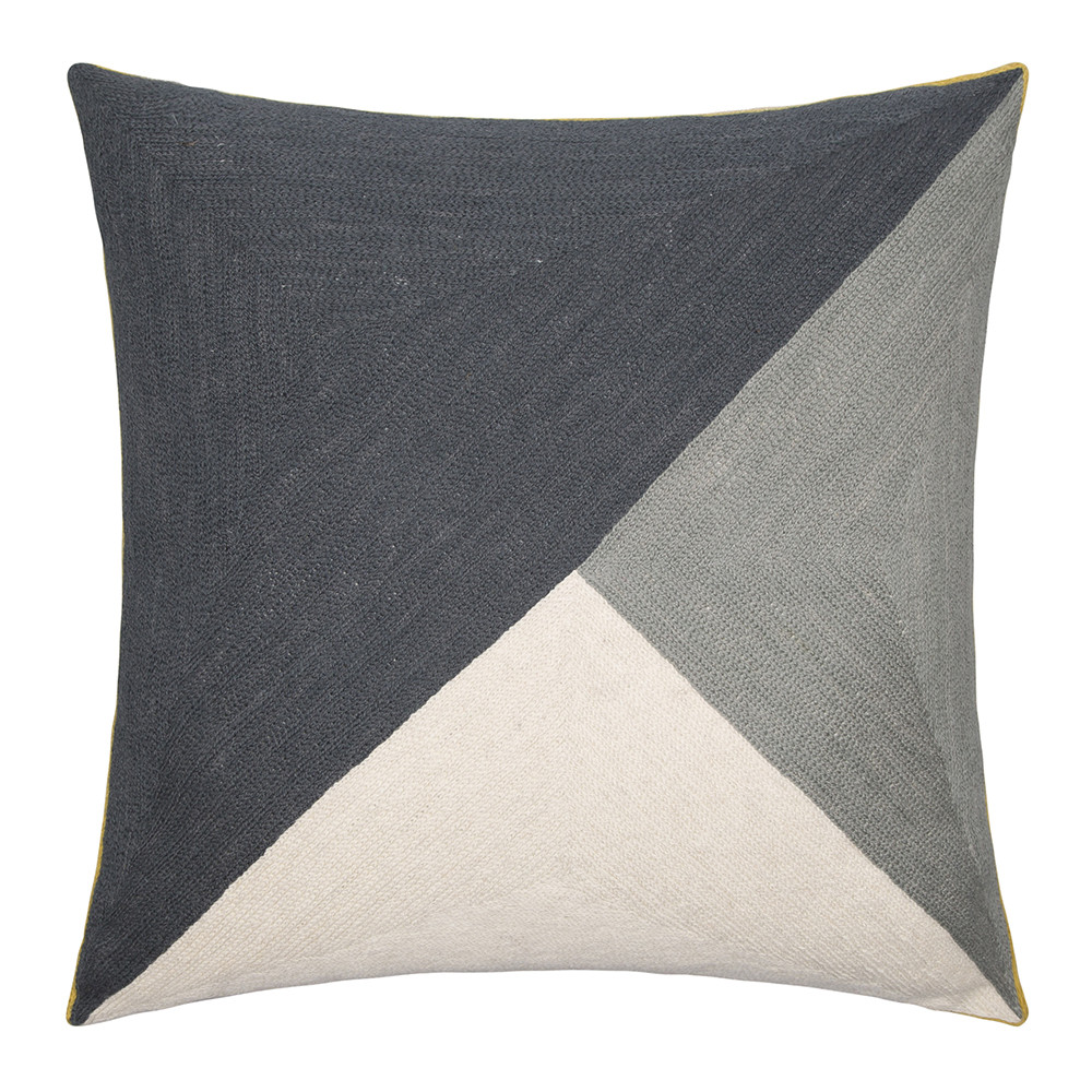 Niki Jones - Albers Cushion - 50x50cm - Slate & Pewter