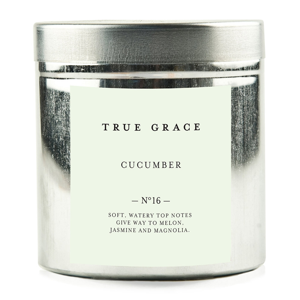 True Grace - Walled Garden Candle in Tin - Cucumber - 250g
