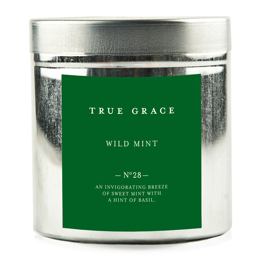 True Grace - Walled Garden Candle in Tin - Wild Mint - 250g