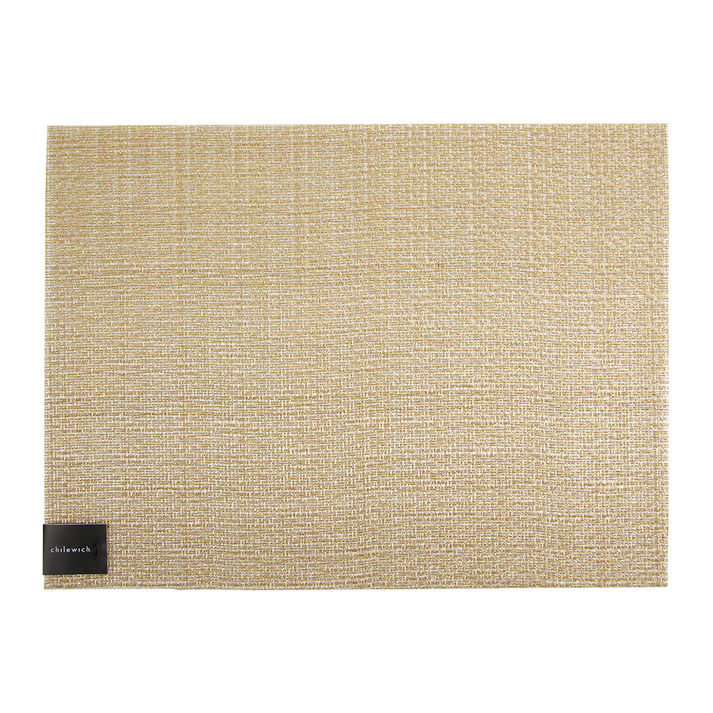 Buy chilewich glassweave rectangle placemat gold amara for Glass table placemats