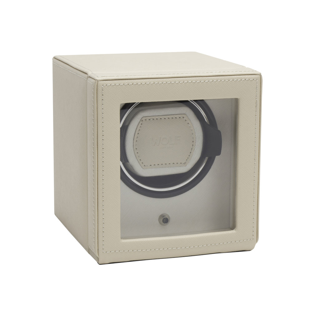 Wolf - Cub Watch Winder with Cover - Cream