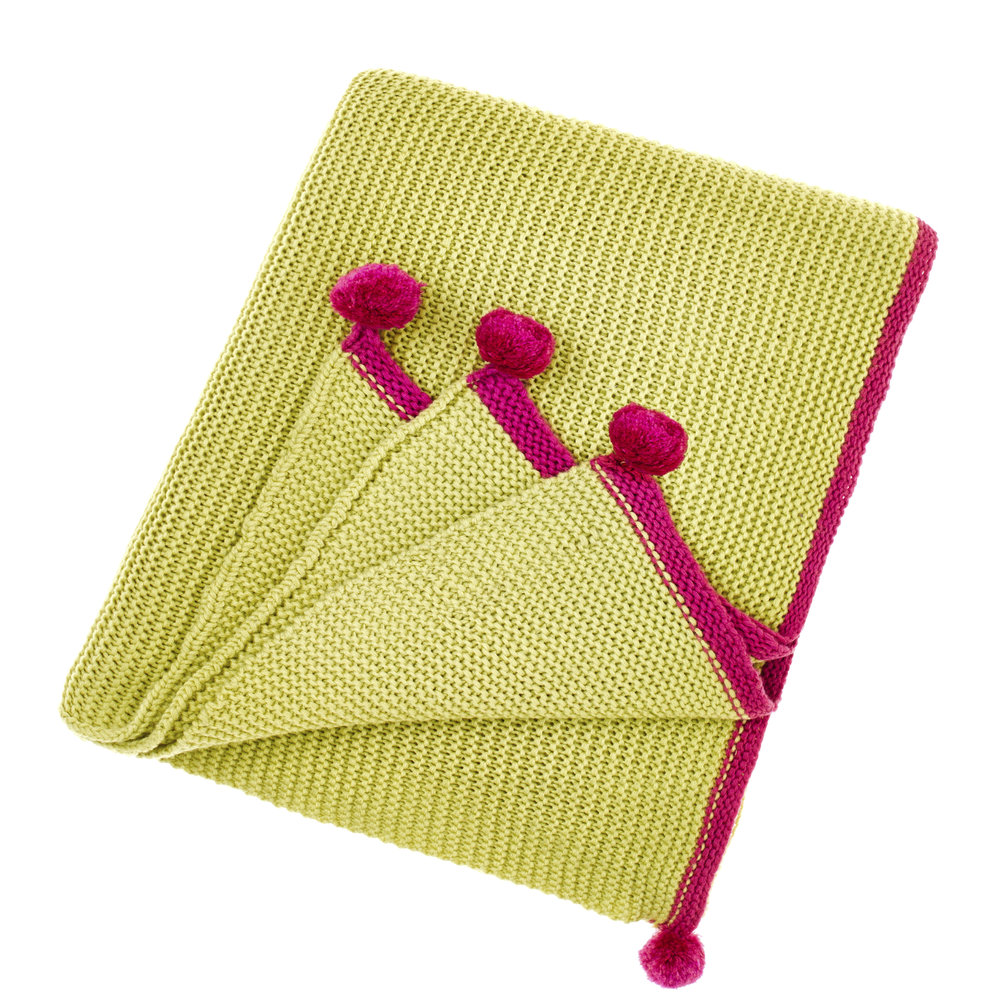 Bluebellgray  Cotswold Throw  Chartreuse