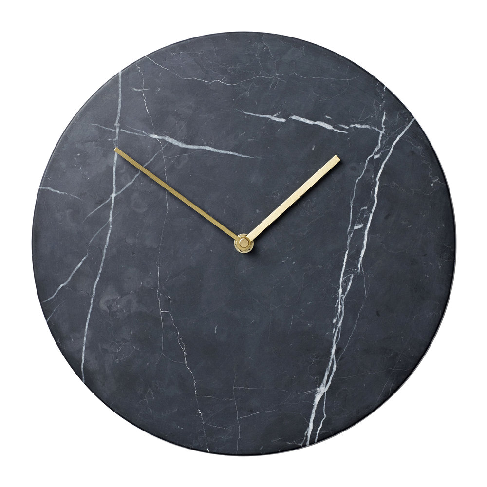 MENU - Marble Wall Clock - Black