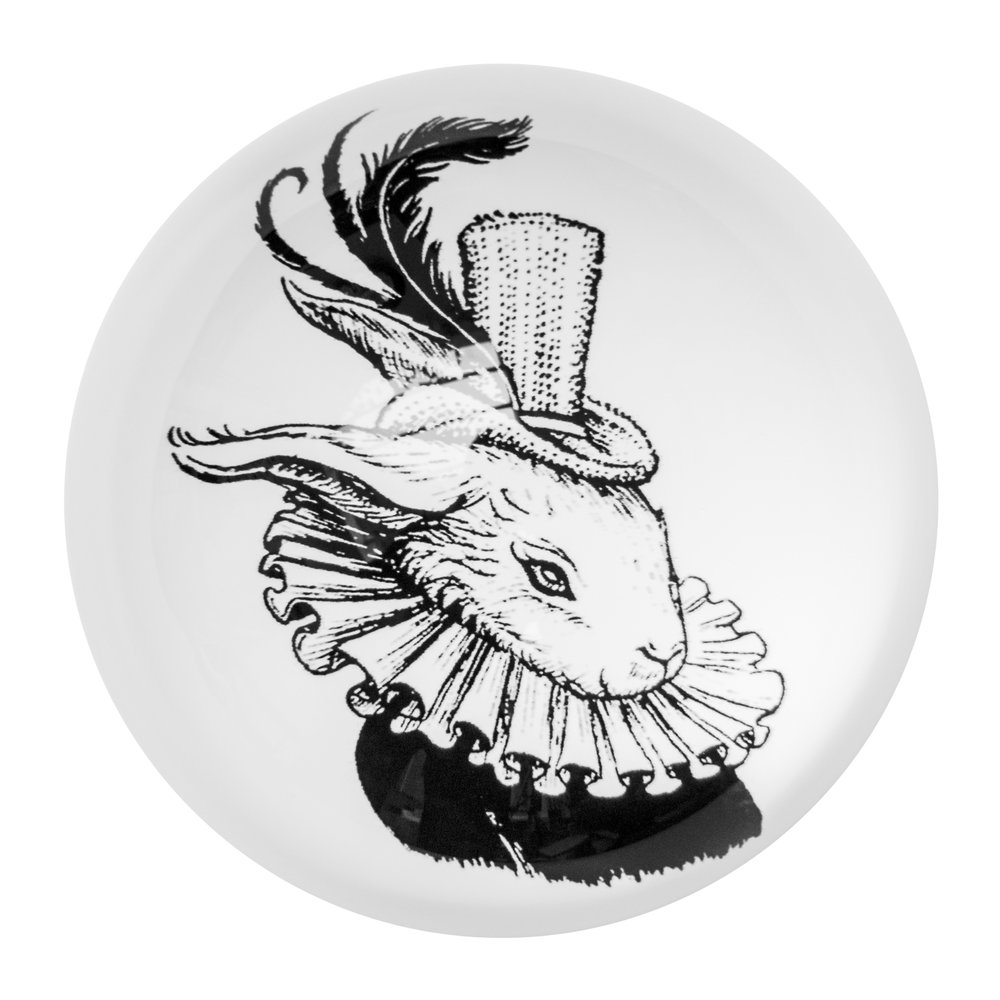 Photo of Rory Dobner - Domed Paperweight - Bling Bunny - shop Rory Dobner Decor online