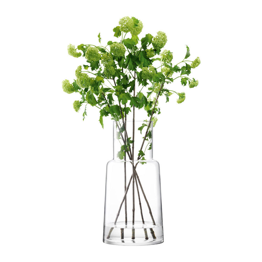 LSA International - Chimney Vase - Clear - 53 cm