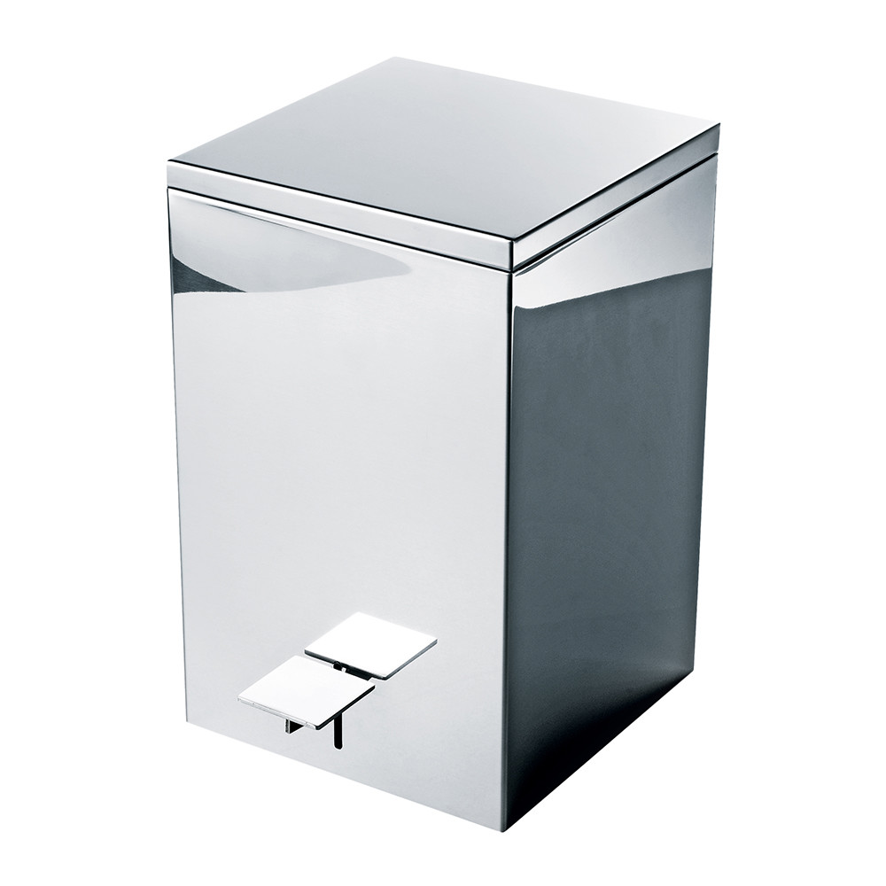 Buy Decor Walther Te 70 Trash Can Polished Stainless Steel Amara