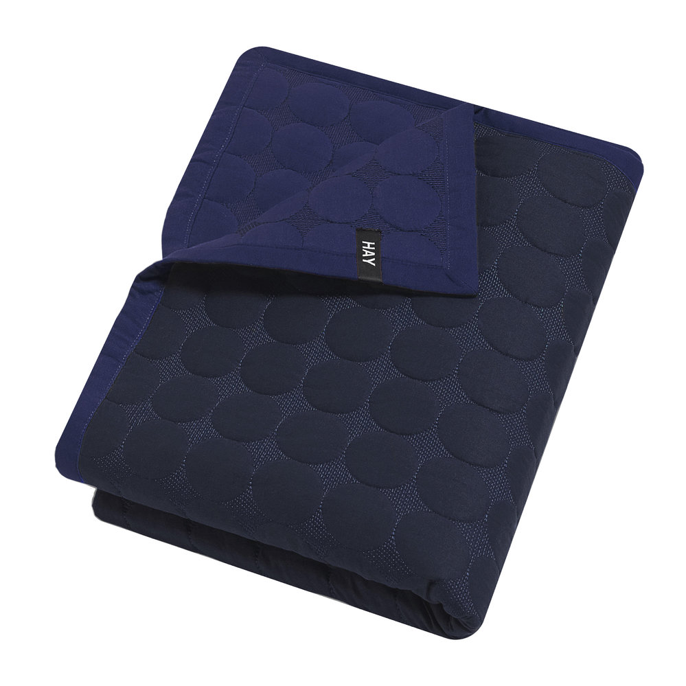 HAY - Baby Dot Bed Cover - Blue
