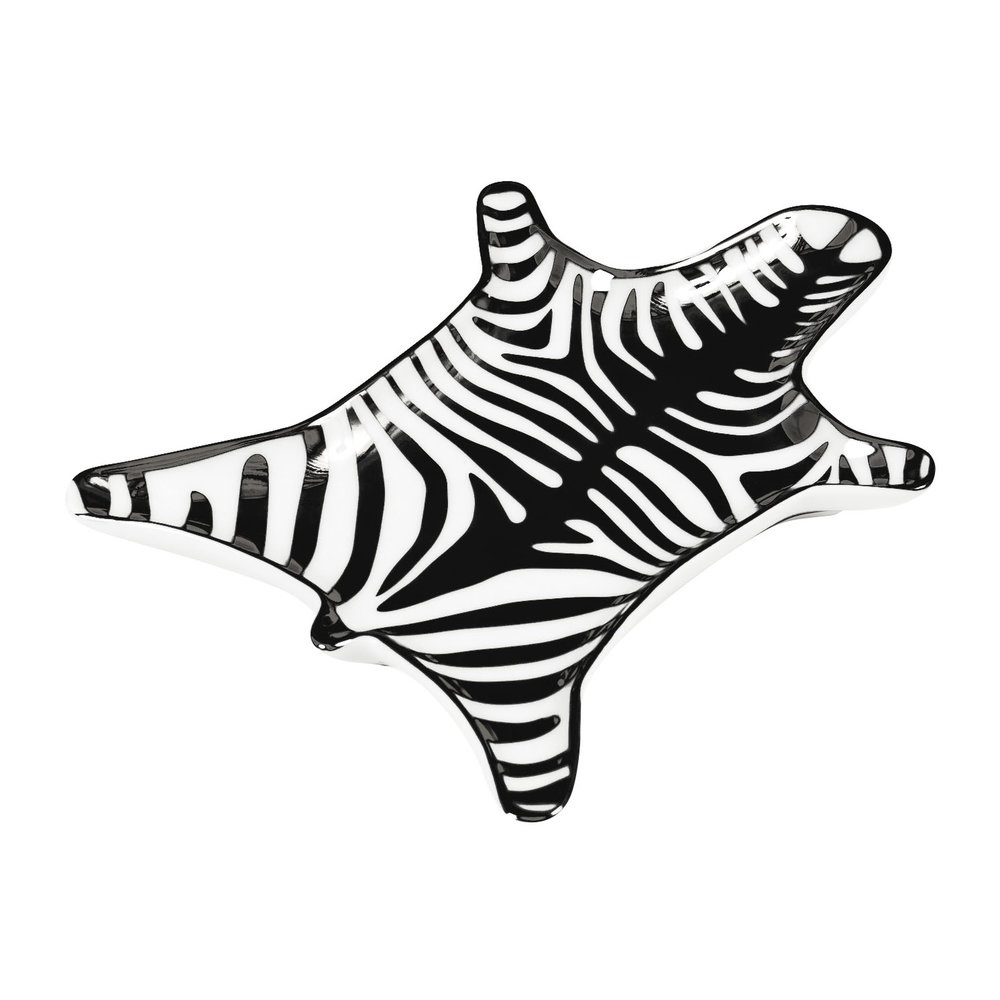 Jonathan Adler - Zebra Stacking Dish - Black & White