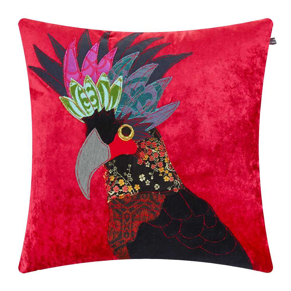 Carola van Dyke - Black Cockatoo Cushion - 50x50cm