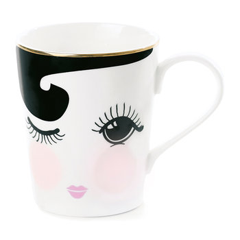 Open & Closed Eyes Ceramic Coffee Mug