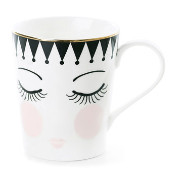 Eyes & Dots Ceramic Coffee Mug